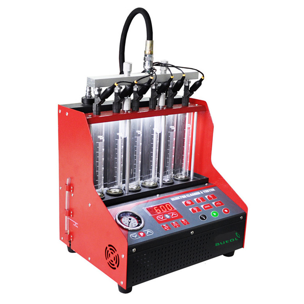 Original Brand Tool - CNC600 gasonline 6/4 cylinder Auto Ultrasonic fuel injector cleaning machine 220/110V